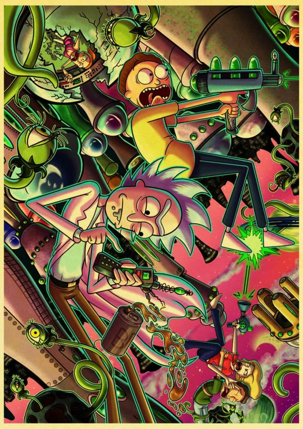 Rick And Morty Cool Retro Poster