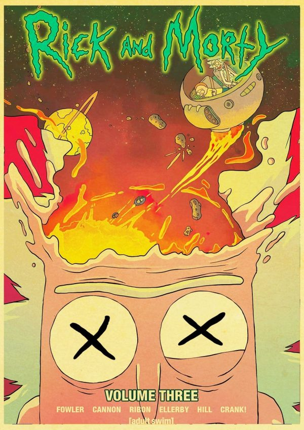 Rick And Morty Volume 3 Retro Poster