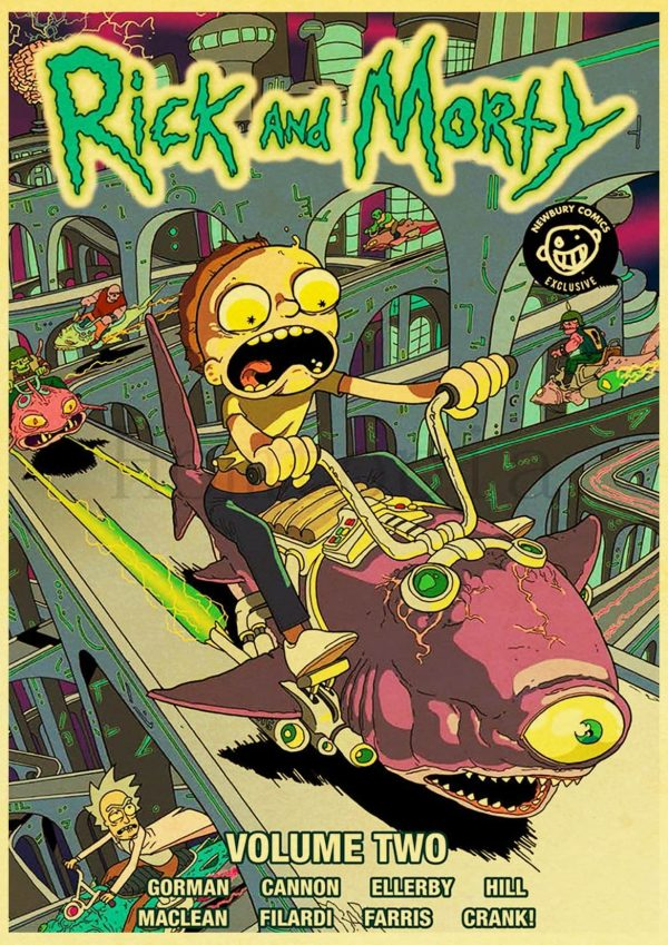 Rick And Morty Volume 2 Retro Poster