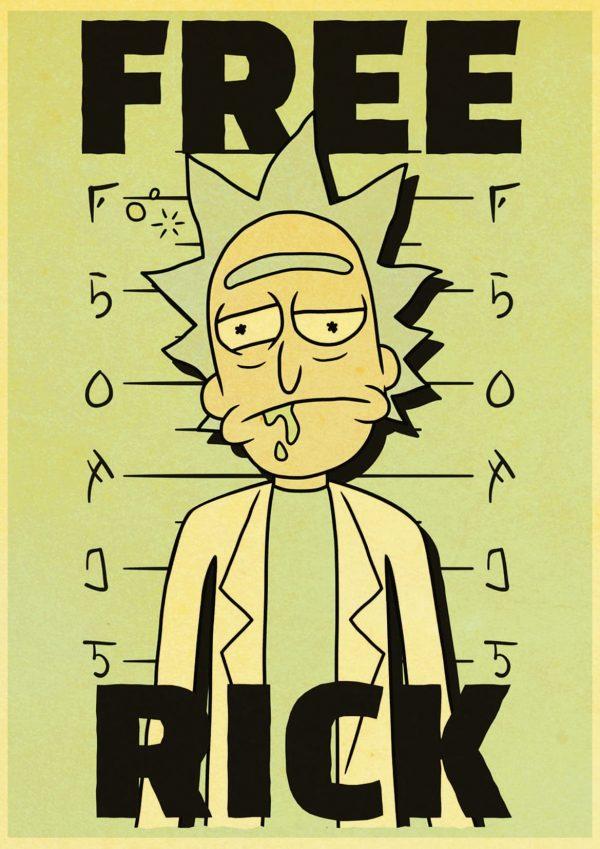 Free Rick Retro Poster