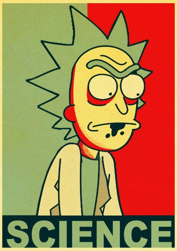 Rick Science Retro Poster