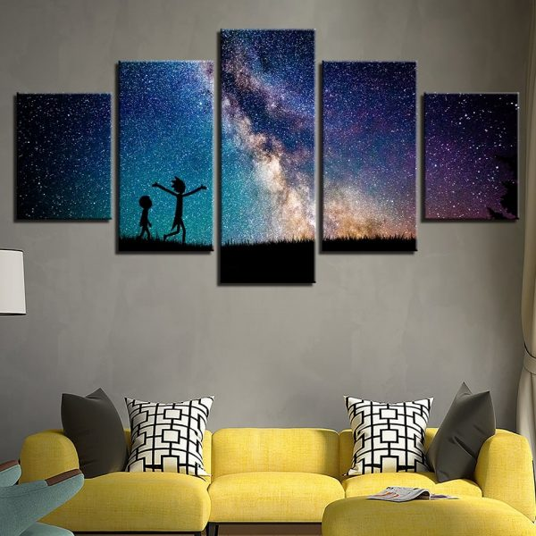 Rick And Morty Walking Canvas 3D Wallpapers