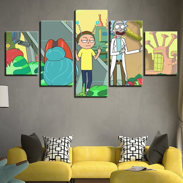 New 5 Pieces Rick And Morty Cartoon Wallpapers