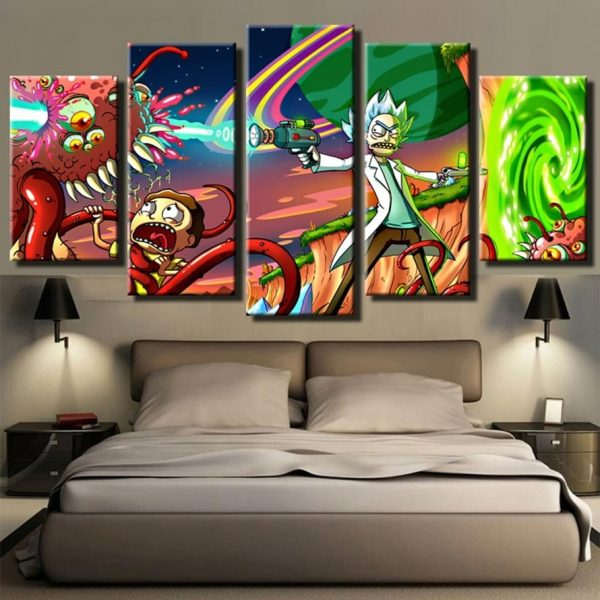 Rick And Morty Fighting 3D Wallpapers