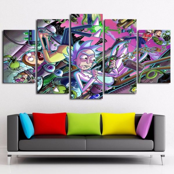 5 Pieces Rick And Morty Cool Paintings Wallpapers