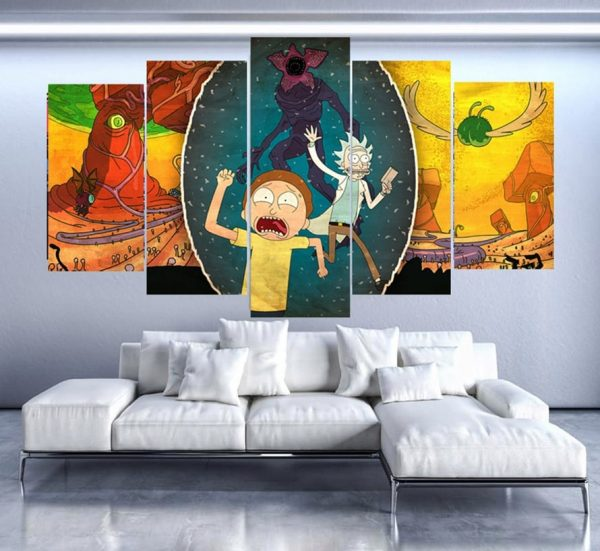 Cartoon Rick And Morty Paintings Wallpapers