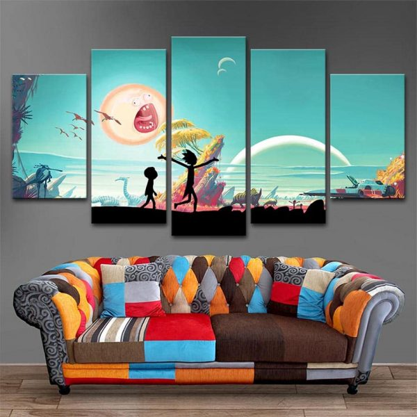 Peace Rick And Morty 3D Wallpapers