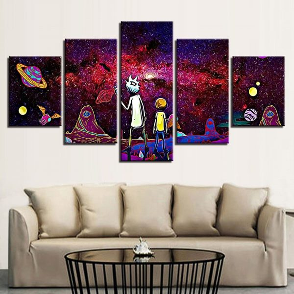 Home Decor 5 Pieces Rick And Morty Wallpapers