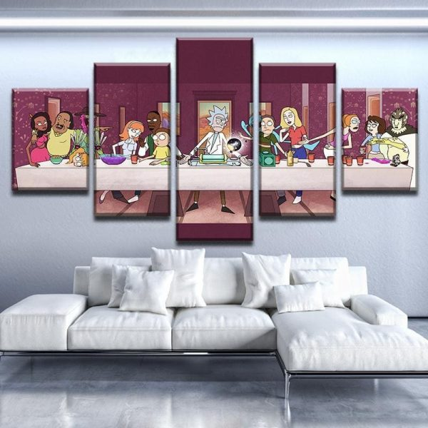 Big Family Rick And Morty Canvas Wallpapers