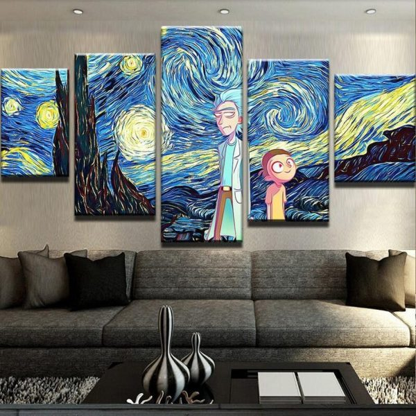 Canvas Paintings Rick And Morty Wallpapers