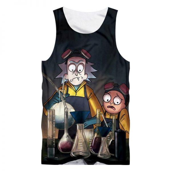 Funny Print Rick And Morty Men Tank Tops