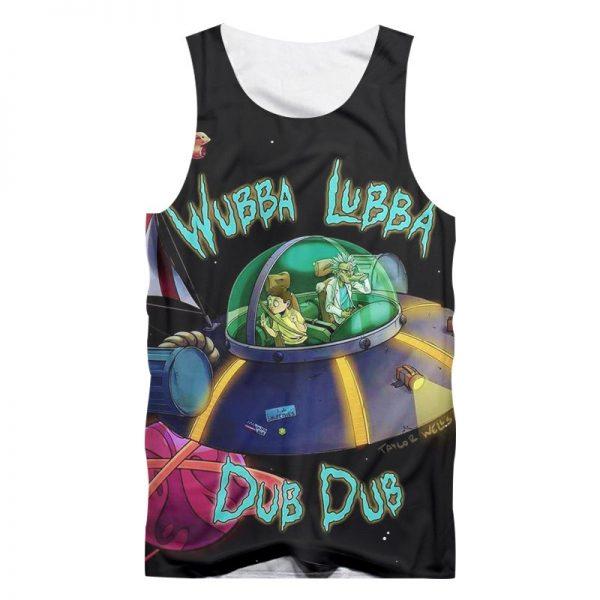 Wubba Lubba Dub Dub 3D Tank Tops