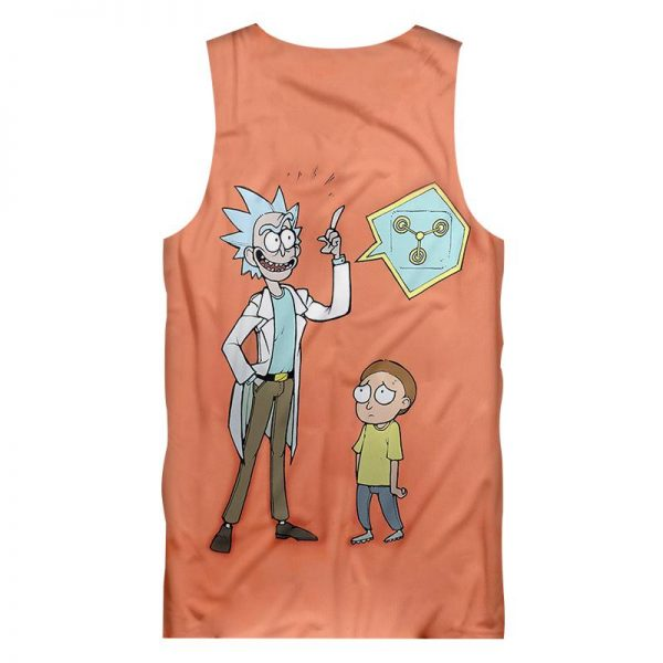 Funny Tank Tops Print Rick And Morty 3D