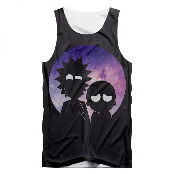 Galaxy Space Rick And Morty Tanktops