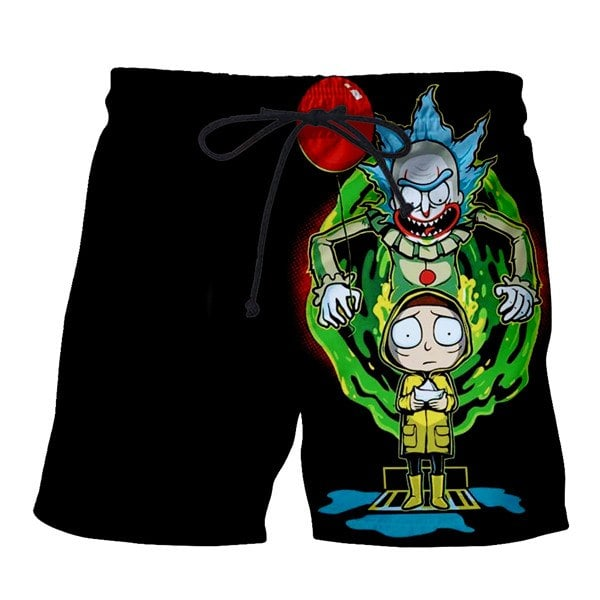 New Rick And Morty 3D Print Boardshorts