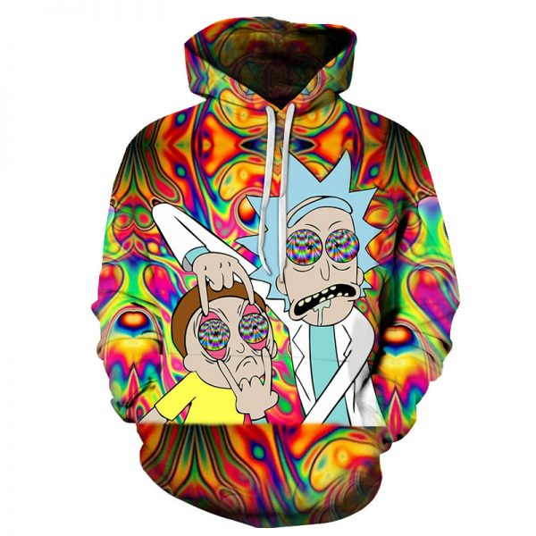 Hypnosis Rick And Morty Hoodie