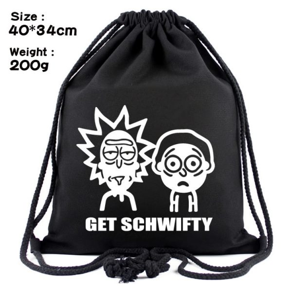Rick And Morty Cool Black Backpack