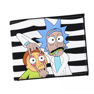 New Arrival PVC Short Wallet Anime Rick and Morty