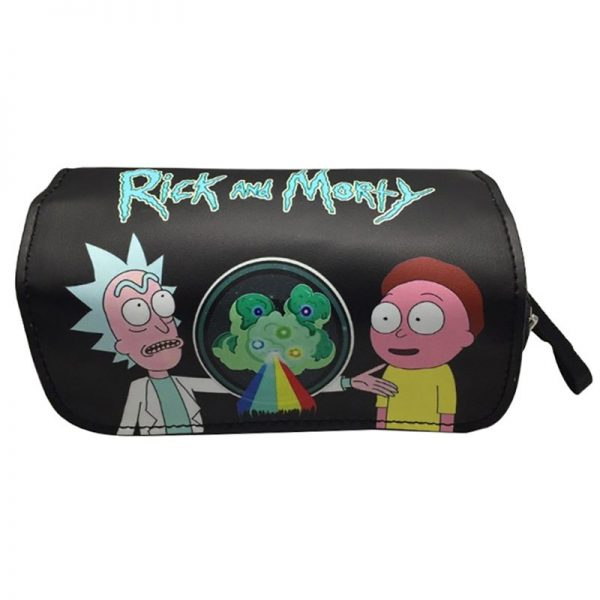 Black Rick And Morty Pencil Case