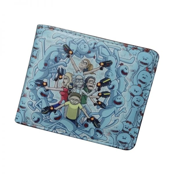 Rick And Morty 's Family Blue Short Wallet