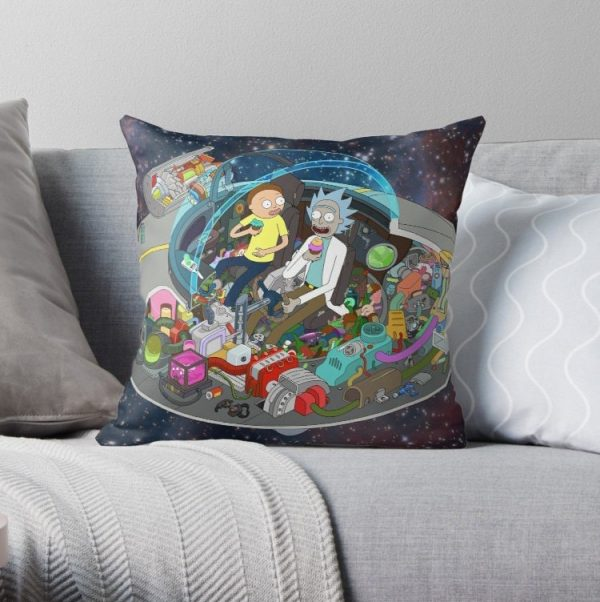 Rick and Morty Cut-Away Pillow Covers