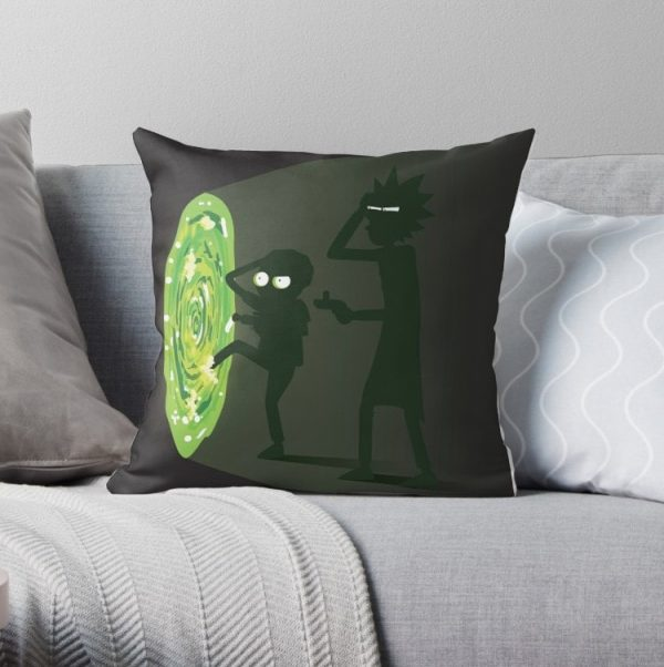 Rick and Morty Portal Travel Pillow Covers