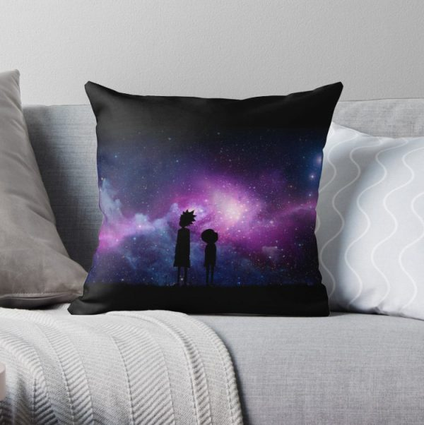 Minimalist Rick and Morty Space Design Pillow Covers