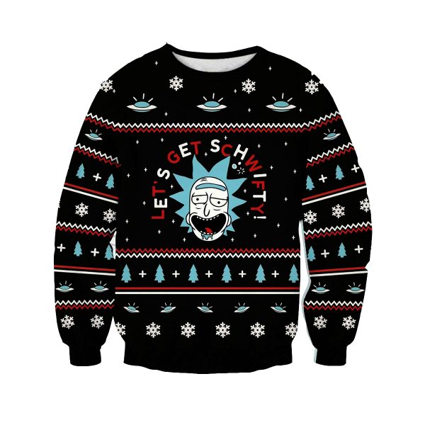 Let Schwifty Christmas Style Rick And Morty Sweatshirt