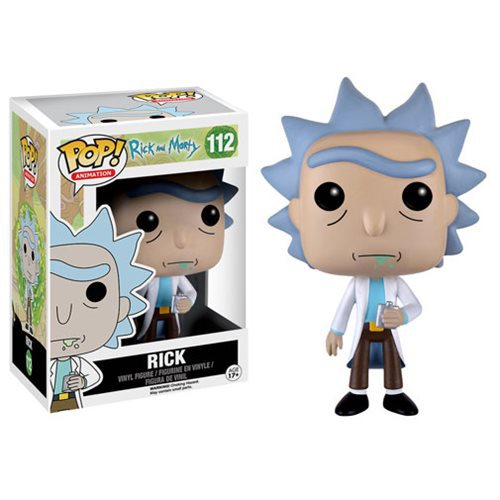 Rick Sanchez Cartoon Action Figure