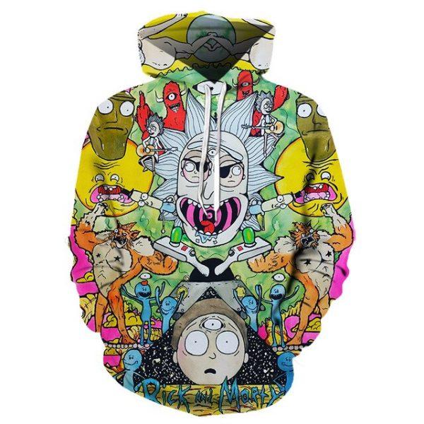 RickAMorty 3D Unisex Hoodie