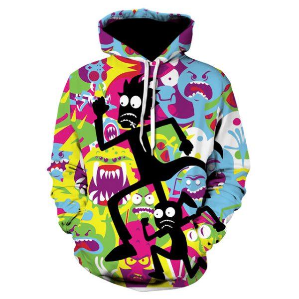 Super Cool 3D Hiphop R&M Hoodie