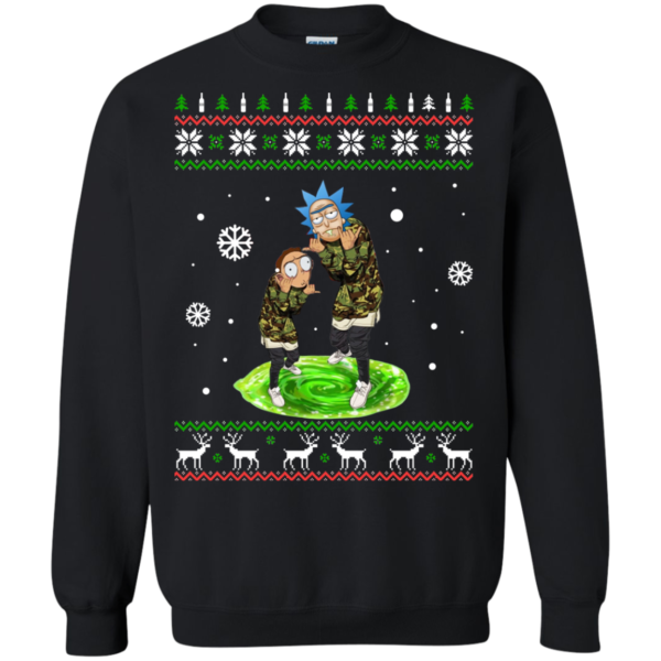 Rick And Morty Dacing In The Christmas Sweatshirt