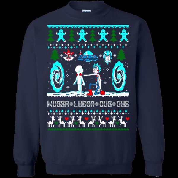 Rick And Morty Christmas Theme Sweatshirt