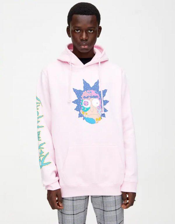 Rick & Morty Pink Hoodie