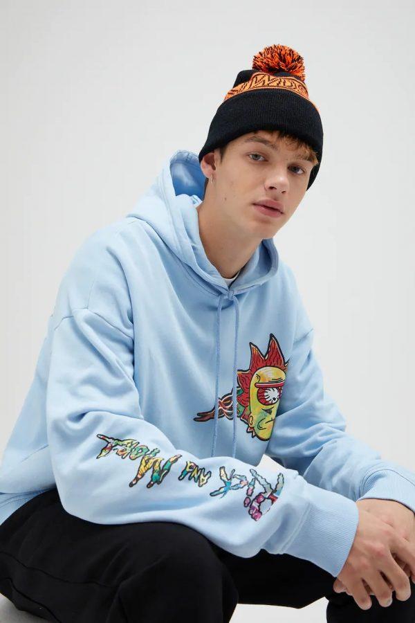 Sky blue Rick and Morty sweatshirt