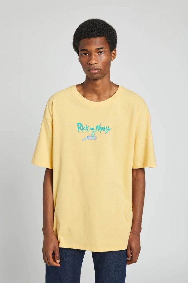 Mustard yellow Rick and Morty T-shirt