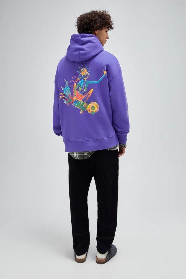 Black Rick and Morty sweatshirt