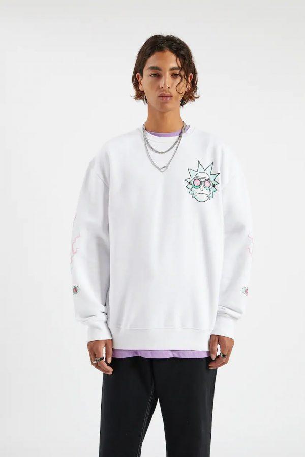 White Rick & Morty sweatshirt