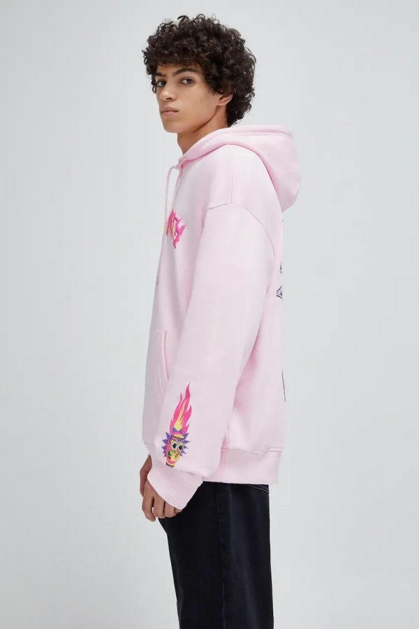 Pink Rick and Morty sweatshirt