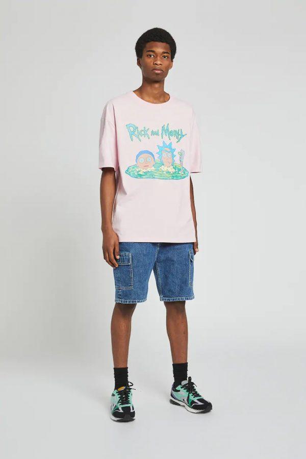 Lilac Rick and Morty illustration T-shirt