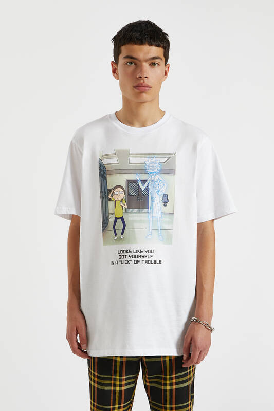 RM Slogan And Illustration T-shirt