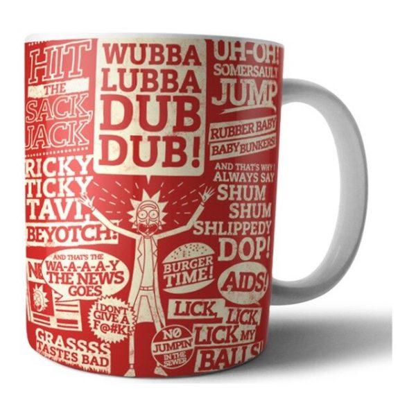 Wubba Lubba Dub Dub Red Mug